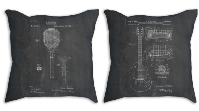 Patent-as-gift-idea-pillow-guitar
