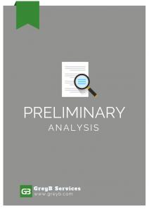 Preliminary Analysis Report