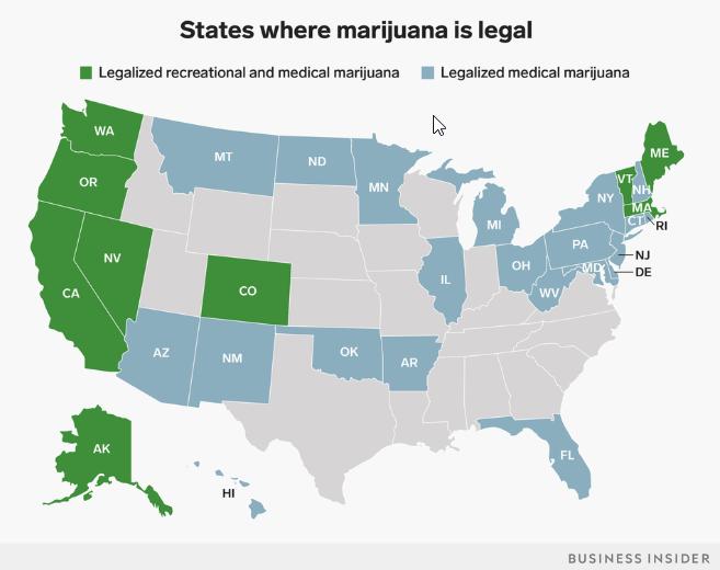 us states that have legalized marijuana