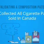 Invalidating a Composition patent: We collected all cigarette packs sold in Canada