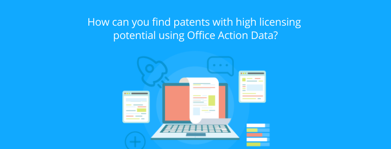 find patents for licensing office action