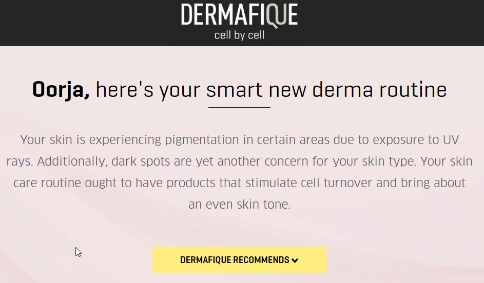 skincare analysis tool dermafique