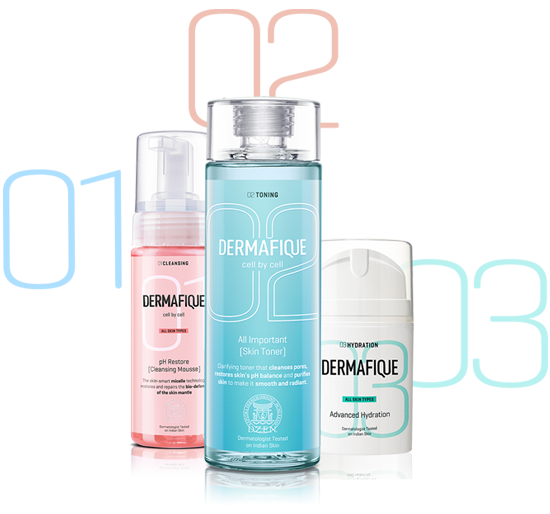 ITC Dermafique skincare products