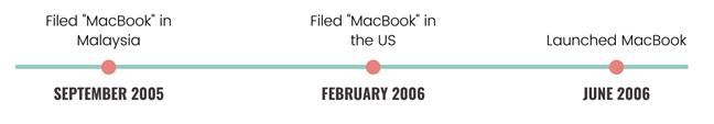 MacBook trademark filing