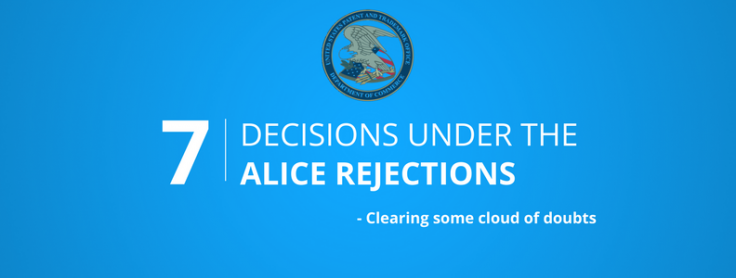 7 Post-Alice patent cases that survived 101 rejections – Clearing